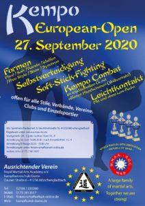 Kempo - European Open 2020 @ Sporthalle Backeshof